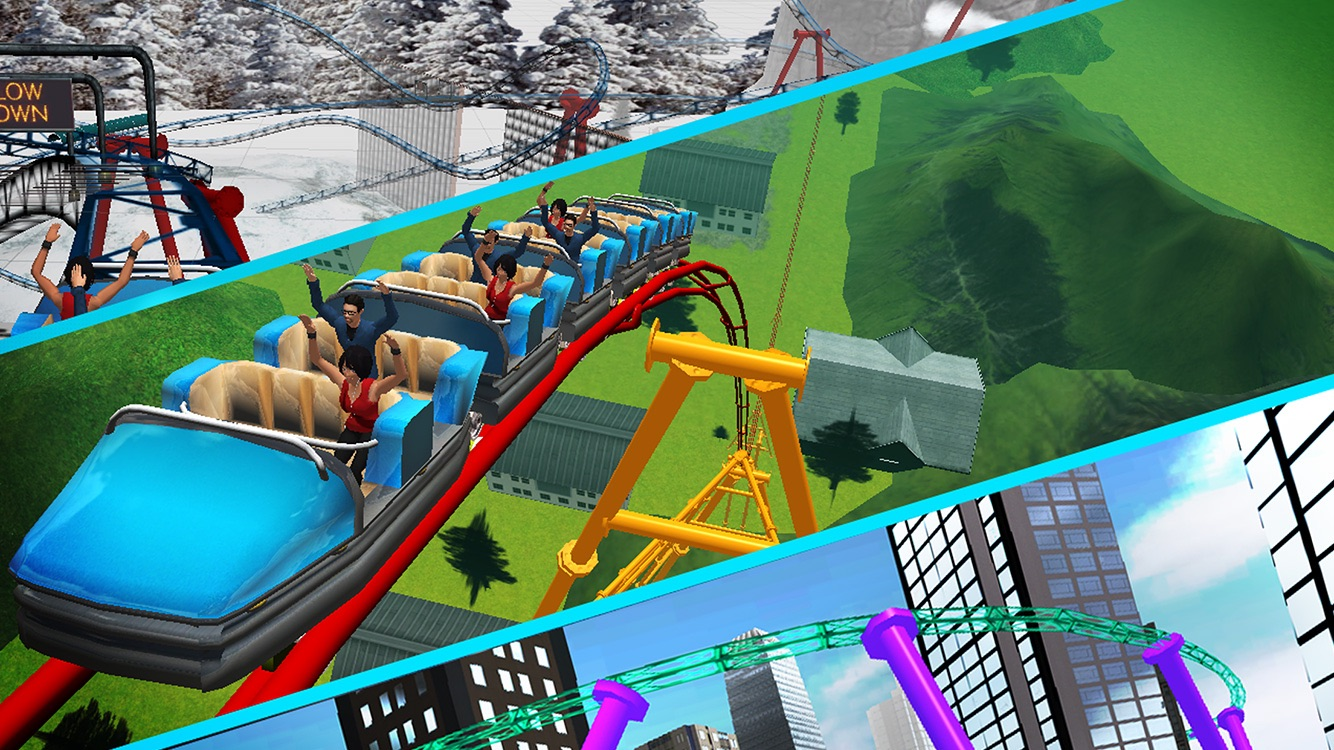 VR Roller Coaster Simulator 3d Screenshot