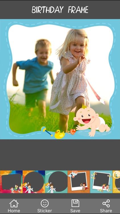 Kid Photo Frame - Camera 720 Khung hình cho bé 360 screenshot-3