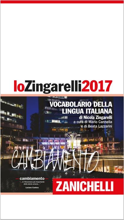 lo Zingarelli 2017 – Zanichelli - Italian Dictionary