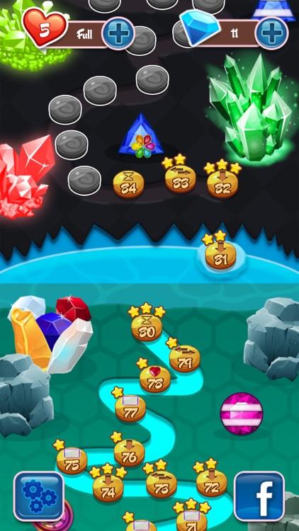 Crystal Insanity - Match 3 Diamond & Jewels Mania screenshot-4