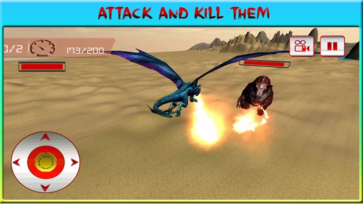 Flying Dragon Warrior Attack – Monster vs Dinosaur Fighting Simulator screenshot-4