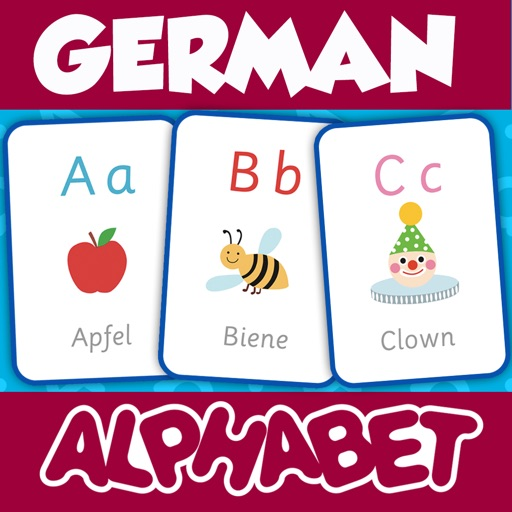 German Alphabets Flash Cards - Learn German for Kids by