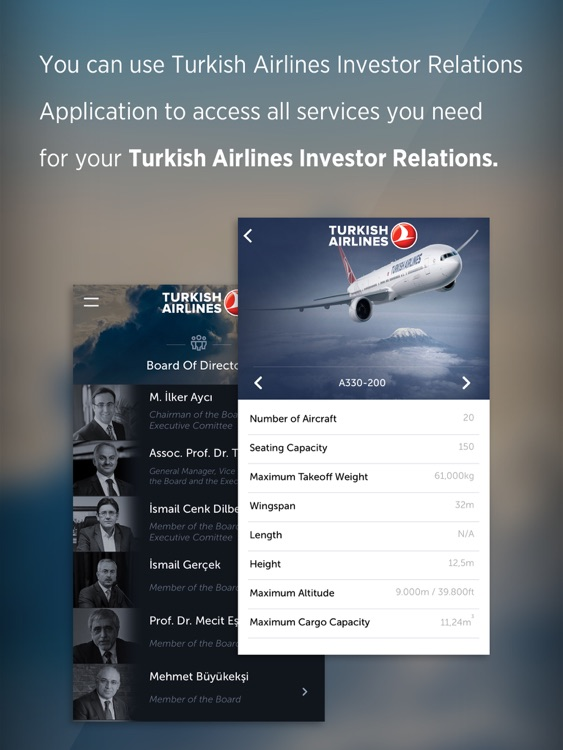 Turkish Airlines (THYAO) Investor Relations for iPad