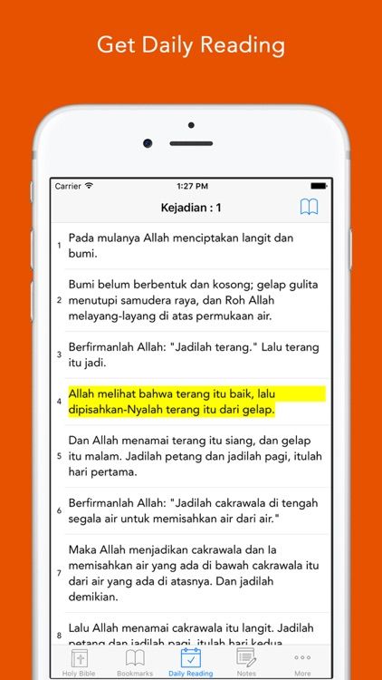 Alkitab: Easy to use Indonesian Bahasa Holy Bible App for daily offline Bible book reading