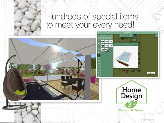 Screenshot #4 for Home Design 3D Outdoor&Garden