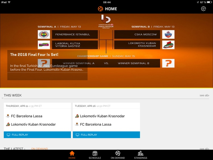 Euroleague TV for iPad screenshot-3
