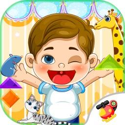 蜡笔小新摆动物-智慧谷 儿童科学知识启蒙早教游戏(贴纸 拼图游戏)
