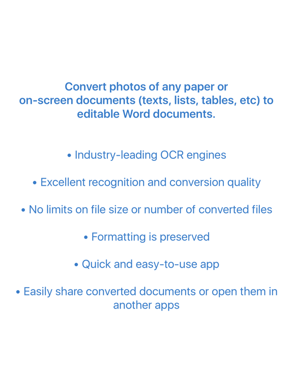 Image to Word Converter - OCR - Convert photos to Word