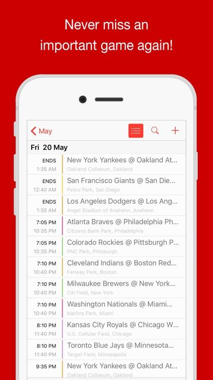 Baseball Schedule MLB edition - BaseballCal screenshot-4