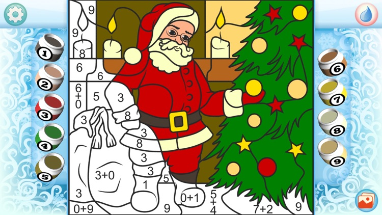 Color by Numbers - Christmas - Free