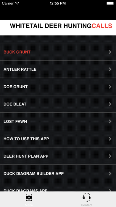 Screenshot for Whitetail Hunting Calls-Deer Buck Grunt -Buck Call - AD FREE - BLUETOOTH COMPATIBLE in Canada App Store