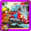 消防车清洗 - 修复和清理车辆疯狂的汽车修理工修理车库游戏的孩子