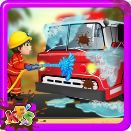 Fire Truck Wash – Repair & cleanup vehicle with crazy car mechanic repairing garage game for kids