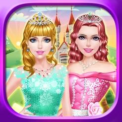 princess sisters salon royal beauty makeover spa makeup dress
