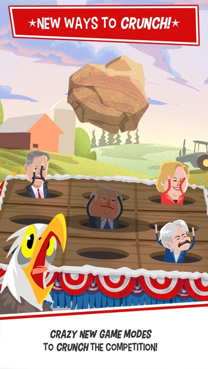 Candidate Crunch: Donald Trump vs Hillary Clinton vs Bernie - Funny Election Game screenshot-0