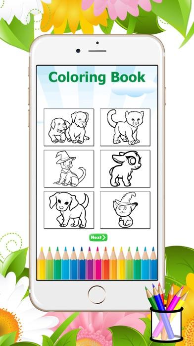 Perro Gato para colorear libro - aprender dibujo y pintura para ...