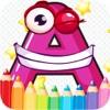 A到Z的字母免费画页和彩色学
