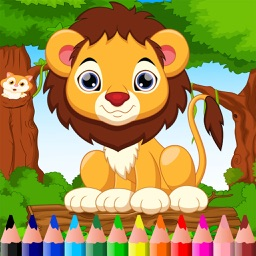 Animal Color Mix Page Paintbrush, Draw,Doodle,Coloring Book For Kid
