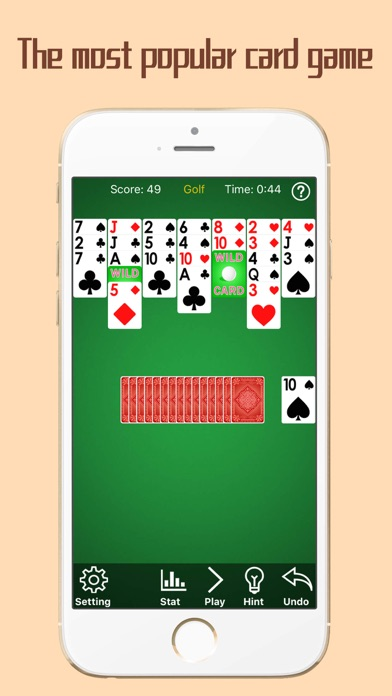 Golf Solitaire Pro App - Go Snap Cards Up Mobile Screenshot on iOS
