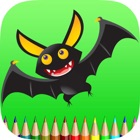 The Bat Coloring Book: Learn to color and draw a bat man, Free games for children icon