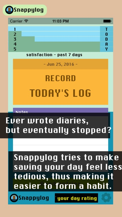 Snappylog - Quick daily diary