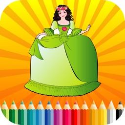 Kids Coloring Book Princess