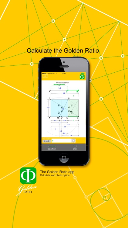 Golden Ratio calculate and photo