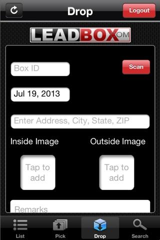 Screenshot of Leadbox