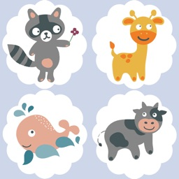 Animated Animal-Puppies Kids & Baby Memo Games For Toddlers! Free Educational Activity Learning App