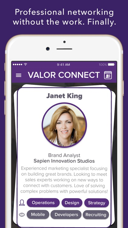 Valor Connect | Network With A Swipe