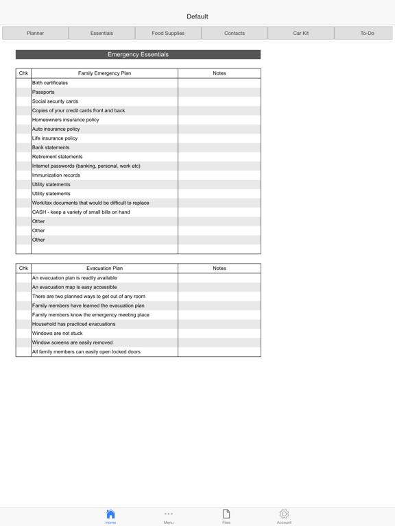 Emergency Planner screenshot one