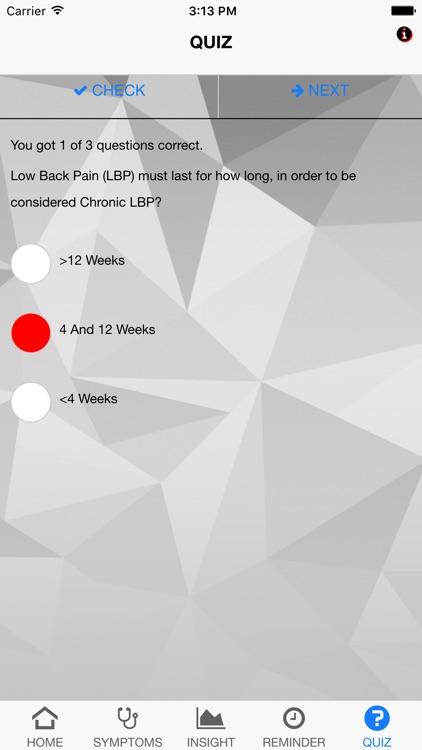 Signs & Symptoms Low Back Pain screenshot-4