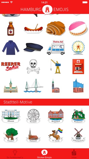 hamburg emojis on the app store. Black Bedroom Furniture Sets. Home Design Ideas