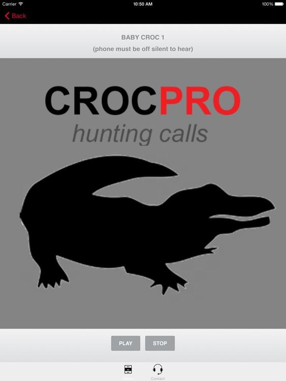 REAL Crocodile Calls & Crocodile Sounds! (ad free) BLUETOOTH COMPATIBLE screenshot-3