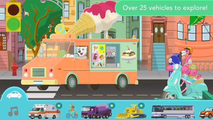 Big City Vehicles - Cars and Trucks for Kids screenshot-0