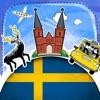 瑞典语字典 - 带有抽认卡和母语发音的免费离线短语手册