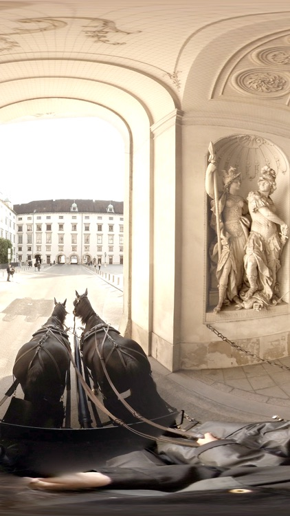 VR Virtual Reality Through Vienna in a Horse-Drawn Carriage - Fiaker Part 2 screenshot-3