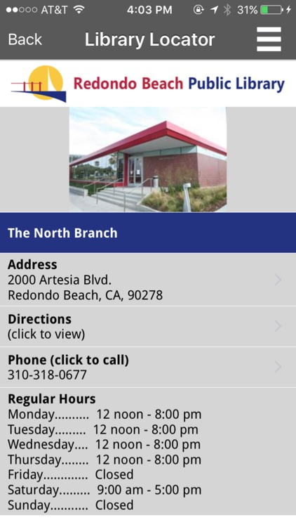 Redondo Beach Public Library Mobile screenshot-4