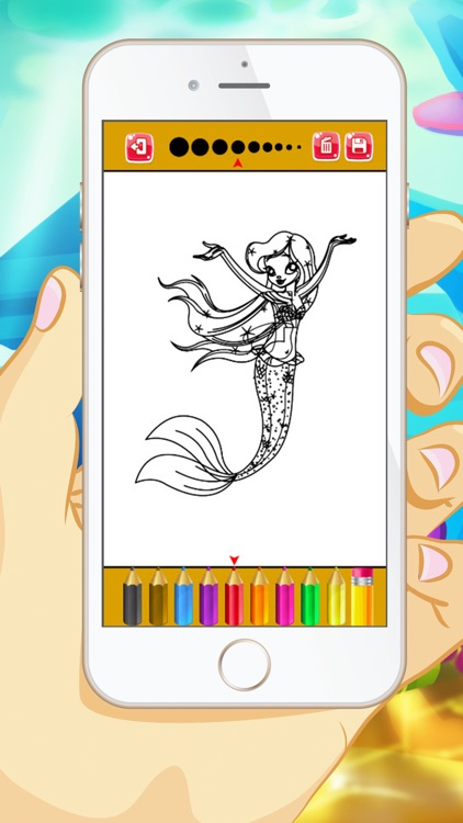 Mermaid Coloring Book - Educational Coloring Games For kids and Toddlers