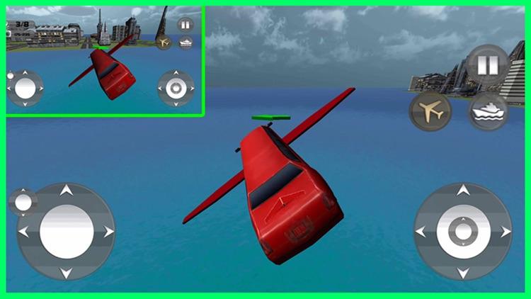 Floating Limo Flying Car Simulator - Futuristic Driving Stunts - Airplane Flight Pilot screenshot-3