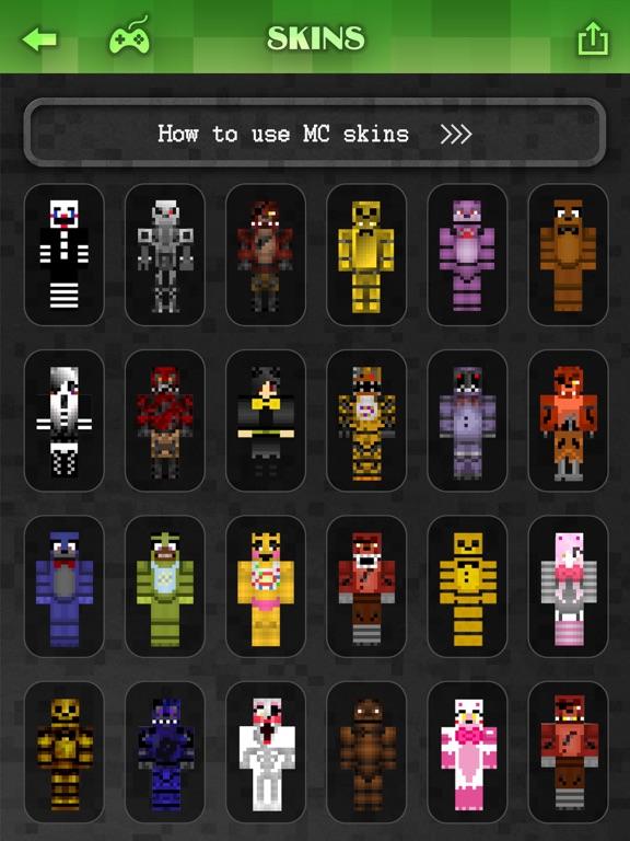 Best FNAF Skins Collection FREE Skin Creator For MineCraft Pocket - Skins para minecraft pe de bebe