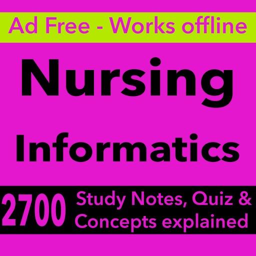 Nursing Informatics Test Bank & Exam Review App : 2700 Study Notes, flashcards, Concepts & Practice Quiz