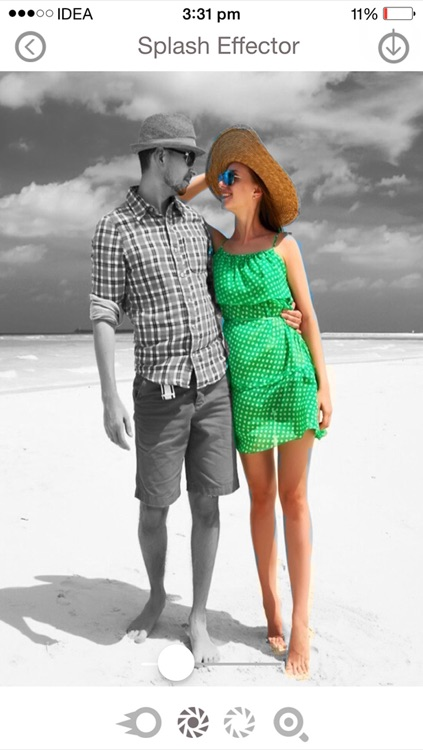 Black & White Color Changer - Free selective color and grayscale splash effects