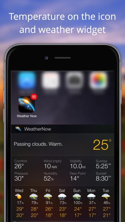 Weather Now Widget for iPhone screenshot-4