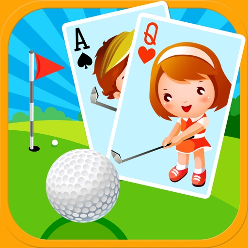 Golf Solitaire Pro App - Go Snap Cards Up Mobile Icon