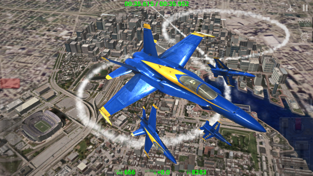Blue Angels: Aerobatic Flight Simulator, game for IOS