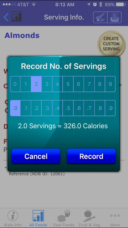 iKals - iNutrient: Calories screenshot-4