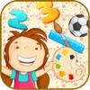 1 º Matemáticas Cool 123 Y Alfabeto - Preescolar Niños Juegos Educativos