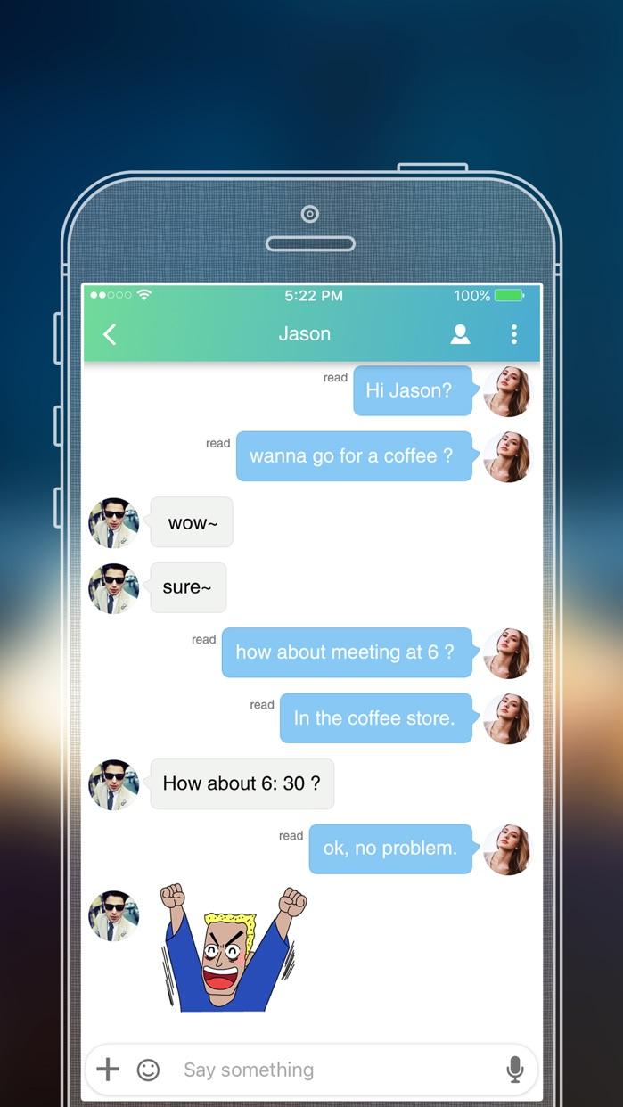 SayHi Chat - Meet New People Screenshot