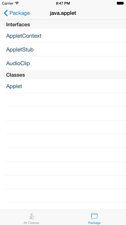 API for Java 8 version screenshot-3